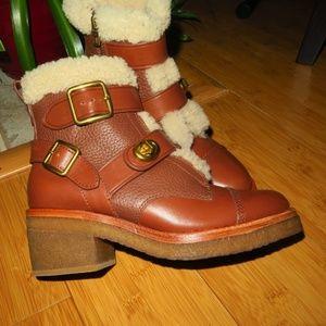 Coach Preston Leather Boots Size 5  *NEW*